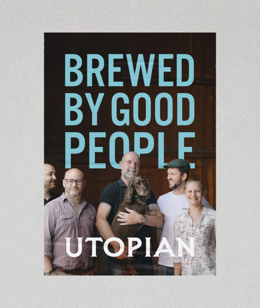 lager brewed by good people - Utopian