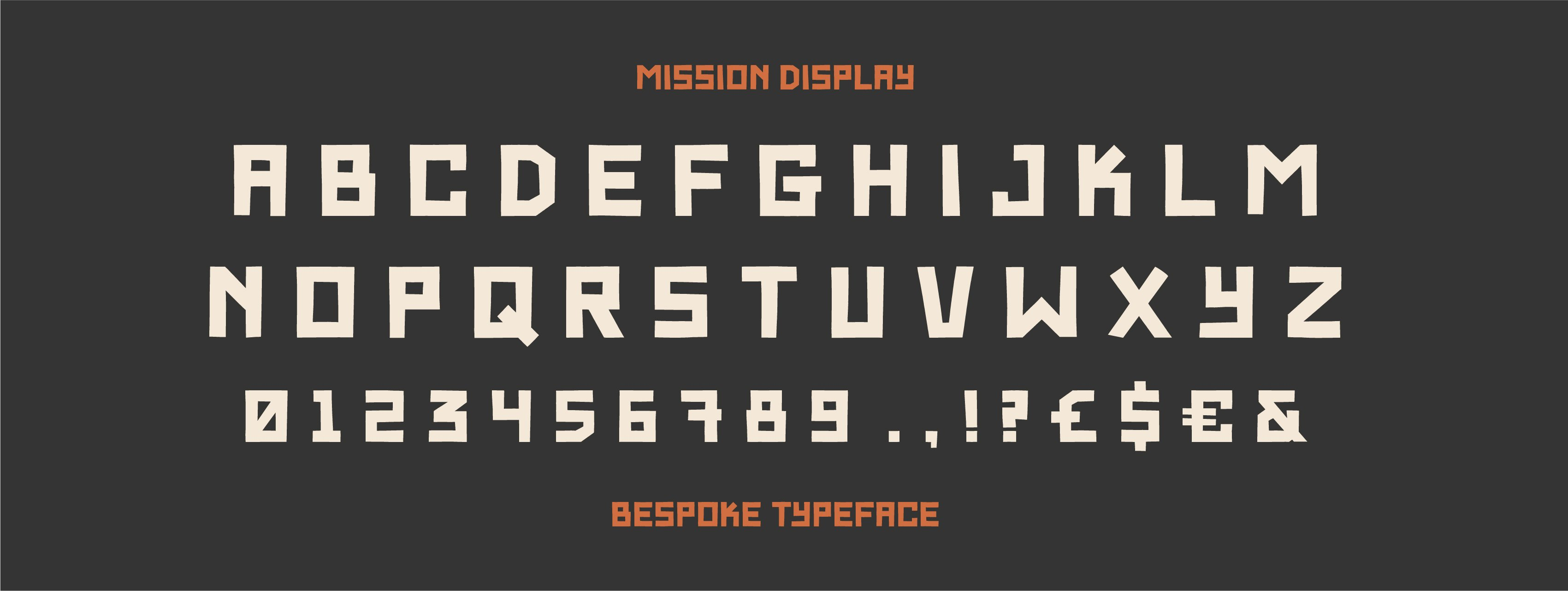 Bespoke font creation for Mission Coffee WOrks