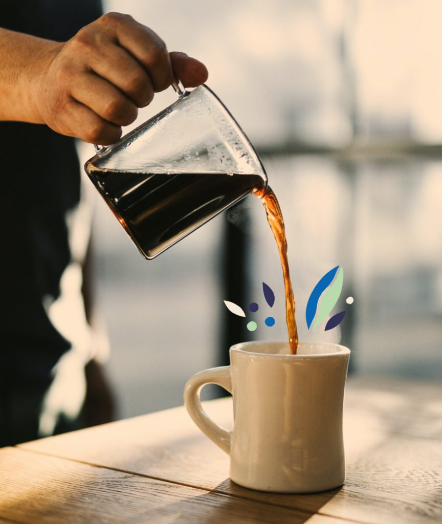 filter coffee being poured