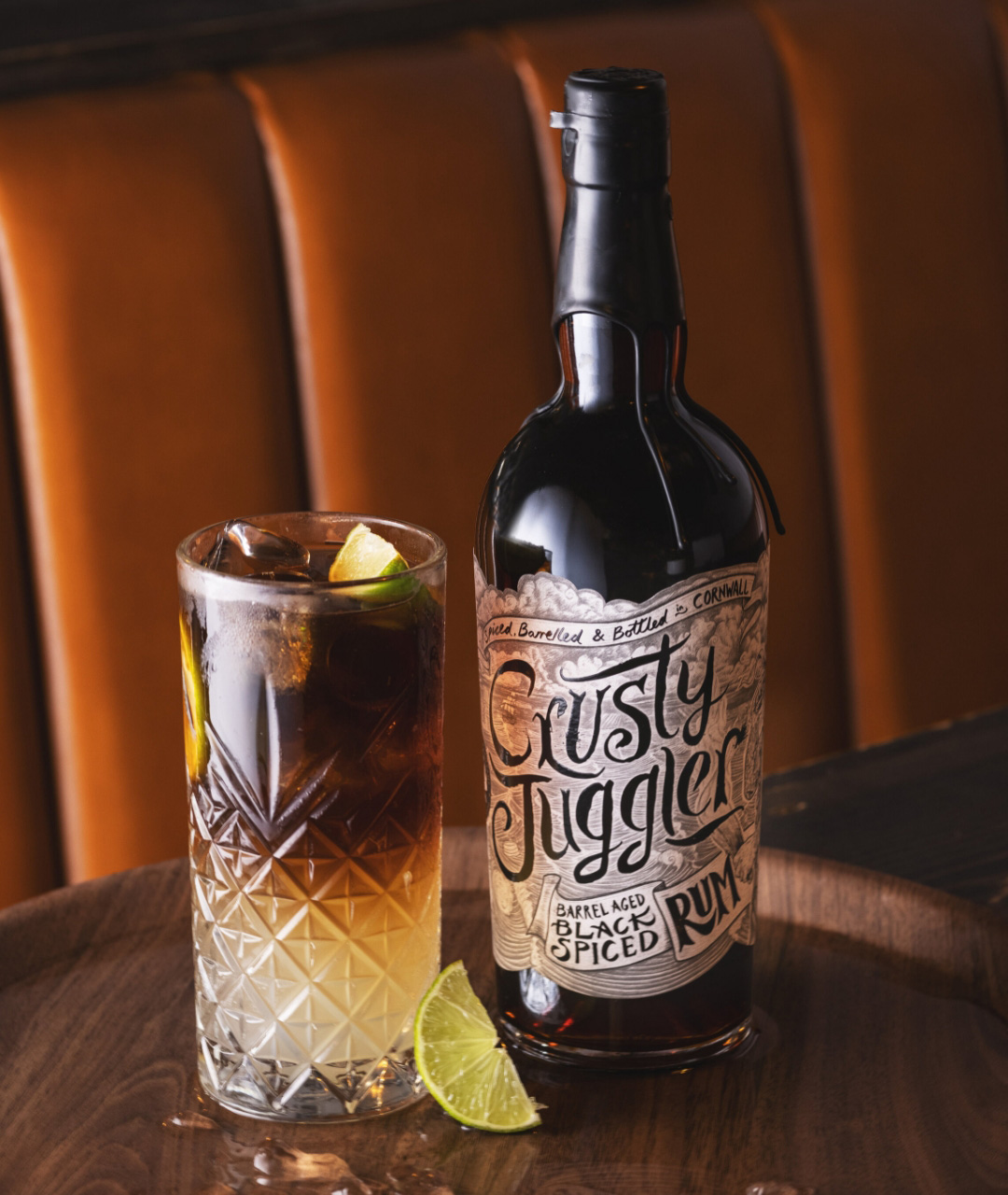 Spiced rum branding by Kingdom & Sparrow, cocktail shots