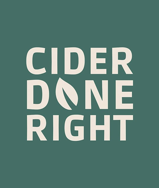 Sandford Orchards Cider Done Right graphic branding by Kingdom & Sparrow