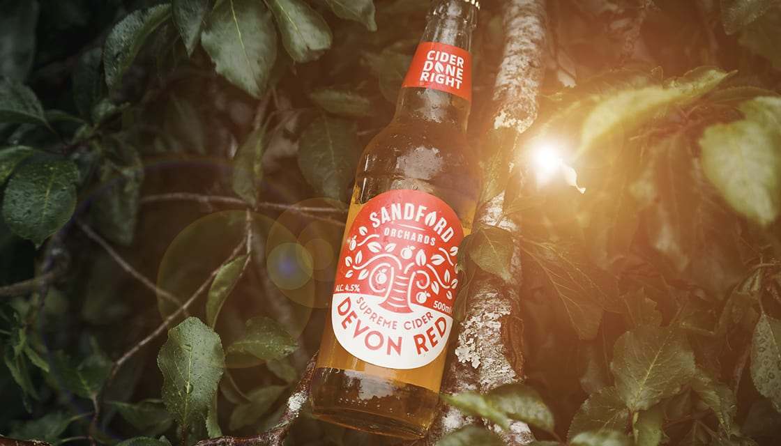 Sandford Orchards branding by Kingdom & Sparrow
