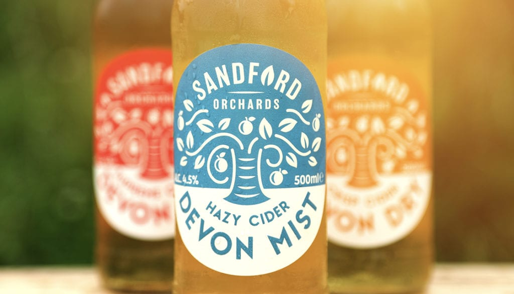 Sandford Orchards core range branding by Kingdom and Sparrow