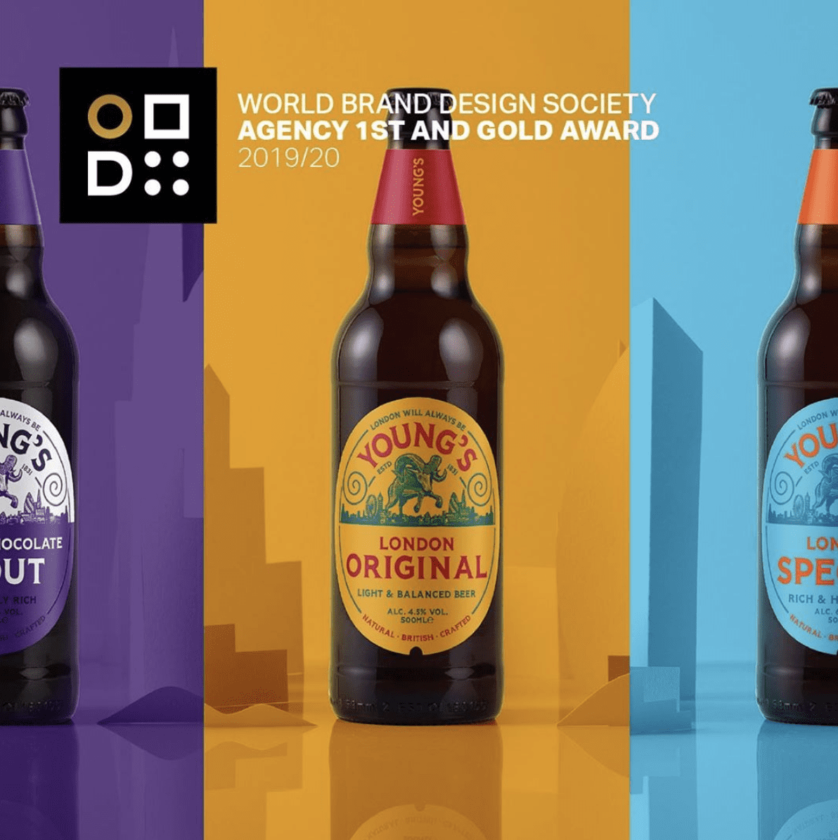 Youngs World Brand Design Award Gold