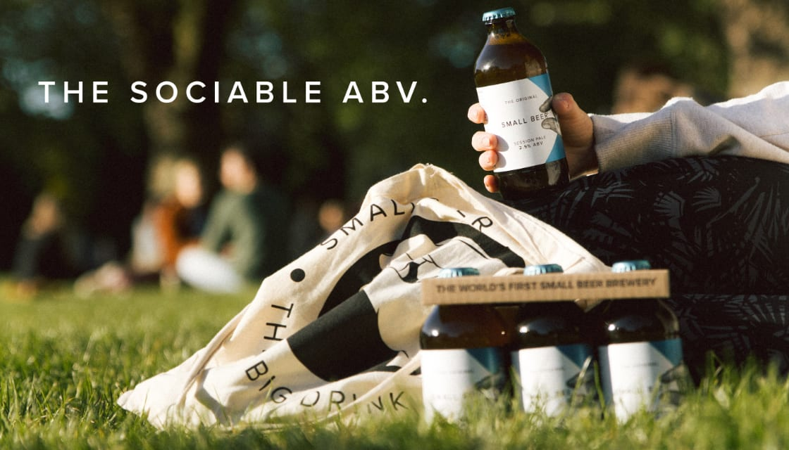 Person in park drinking low alcohol beer