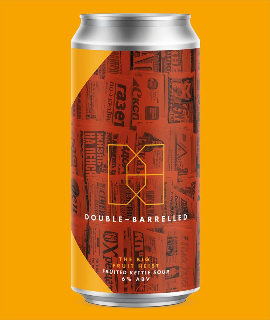 Fruit sour craft beer can