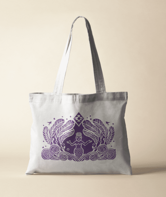 Branded tote bag for superfood company Kingdom & Sparrow