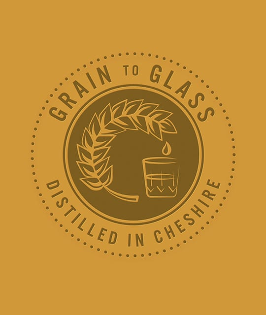 Weetwood distillery grain to glass graphic branding by Kingdom & Sparrow