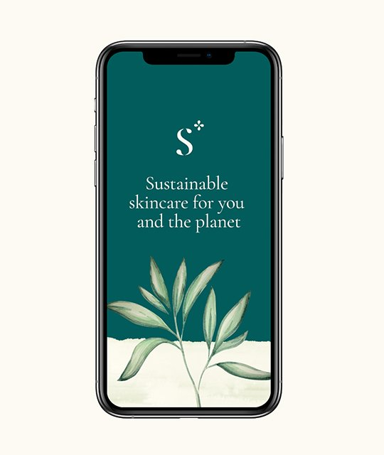 Sustainable skincare iphone instagram story branding by Kingdom & Sparrow