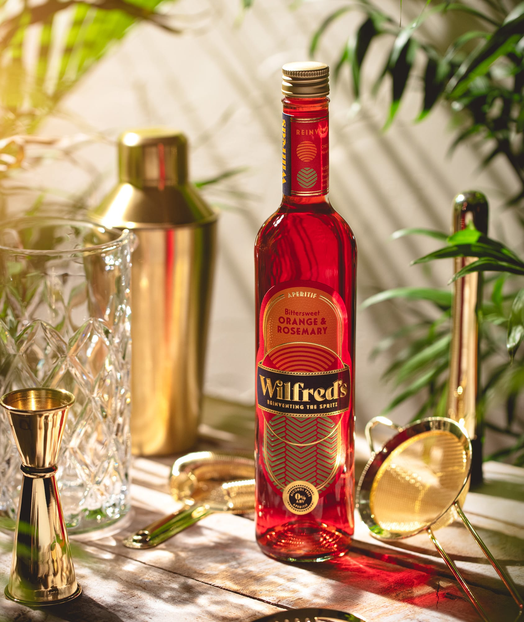 Wilfreds Aperitif Orange and Rosemary Branding by Kingdom and Sparrow